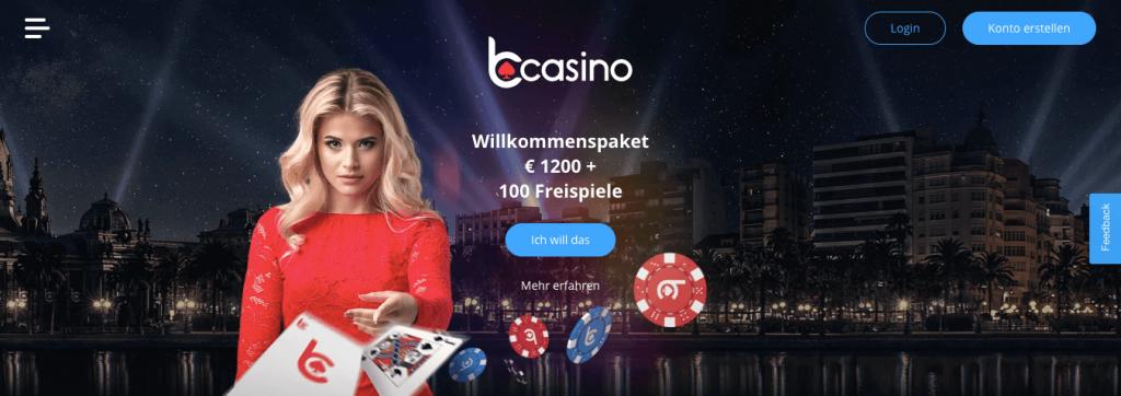 bCasino Webseite